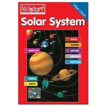 Solar System Wipe Clean Book cover