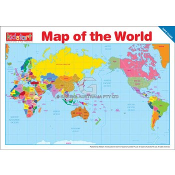 World Map & Flags Placemat front