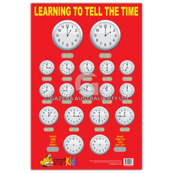 Learning to Tell the Time Chart
