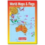 World Map & Flags Wipe Clean Book cover