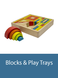 blocks play trays